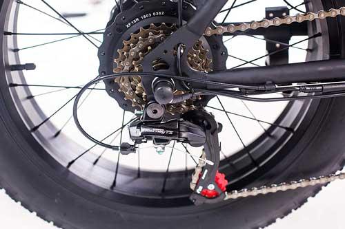revoe dirt vtc bici elettrica pieghevole con cambio shimano