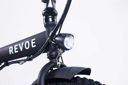 revoe dirt vtc bici elettrica con luci a led