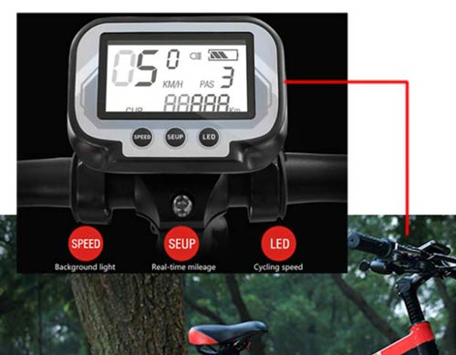 display a led merryhe ebike 2019
