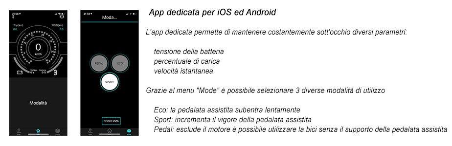 app per smartphone bici elettrica pieghevole fiat f16