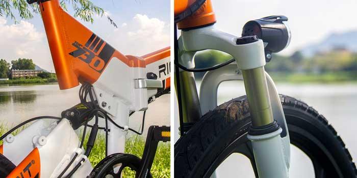 rich bit bici elettrica doppio ammortizzatore