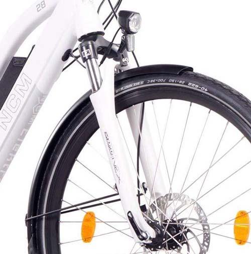 forcella ammortizzata bici elettrica ncm milano