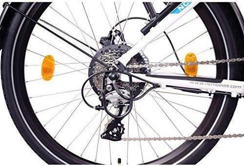 cambio shimano a 7 marce ncm milano e-bike