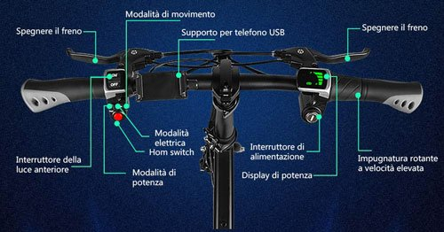 display e manubrio ebike fiido d1