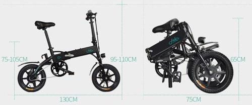 dimensioni bici elettrica fiido d1 ebike pieghevole