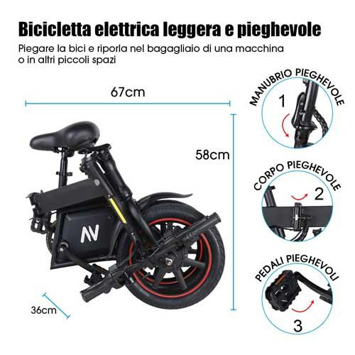moovway bici elettrica pieghevole