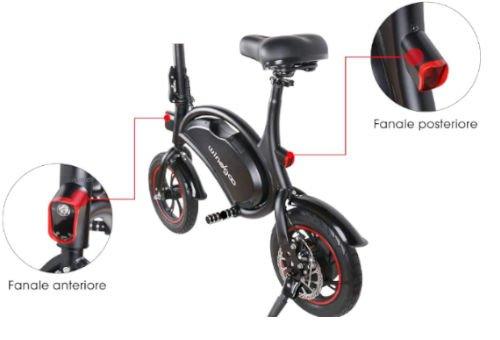 illuminazione bici elettrica windgoo b3