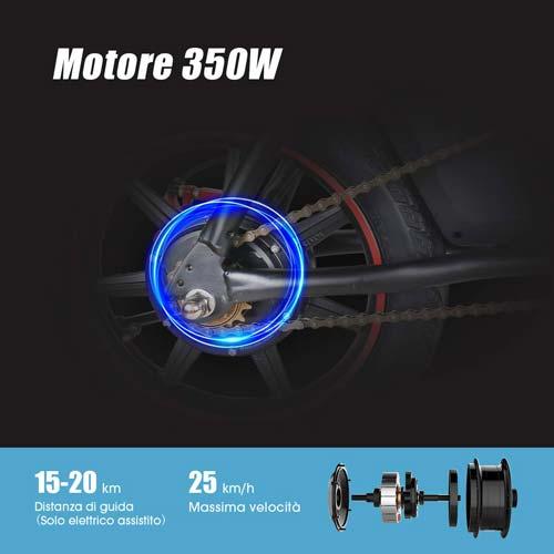 moovway bici elettrica motore da 350w