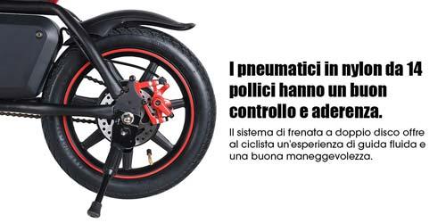 pneumatici bici elettrica moovway da 14 pollici