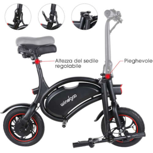 bici elettrica windgoo b3 pieghevole ed economica