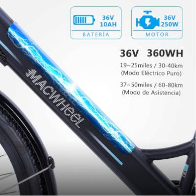 batteria rimovibile e-bike macwheel ranger