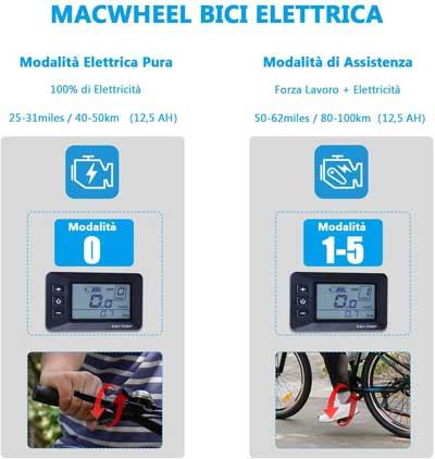 modalità di guida bici elettrica macwheel