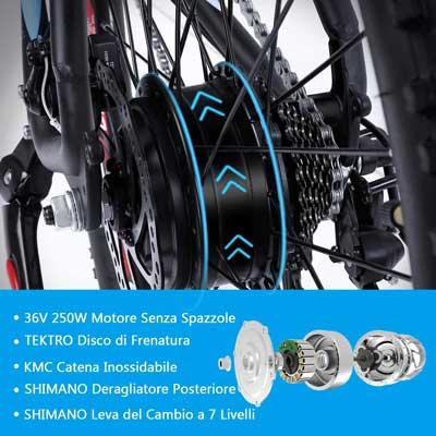 motore brushless bici elettrica macwheel wrangler 600 ranger 500