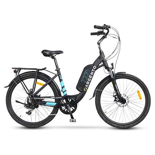 bici elettrica da città argento omega