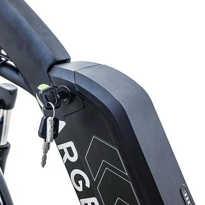 batteria rimovibile bici elettrica argento omega