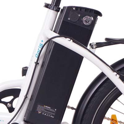 batteria rimovibile bici elettrica pieghevole ncm paris