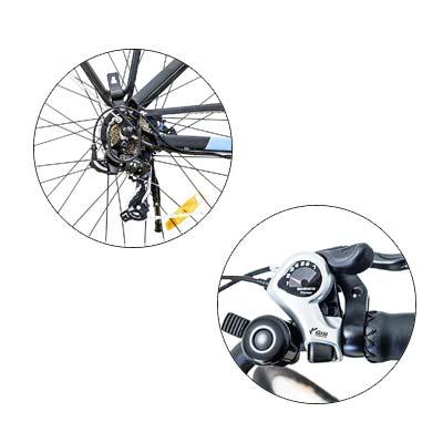 cambio shimano bici elettrica argento omega