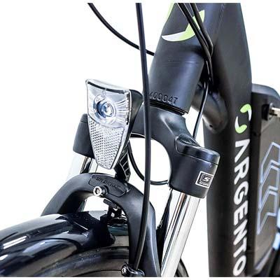 forcella ammortizzata e-bike argento omega