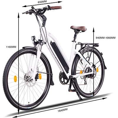 misure bici elettrica ncm milano plus