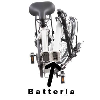 batteria estraibile bici elettrica schiano e-sky