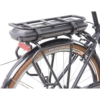 batteria estraibile city bike elettrica schiano e-ride
