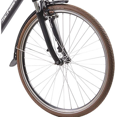 ruote e freni v-brake city bike elettrica schiano e-ride