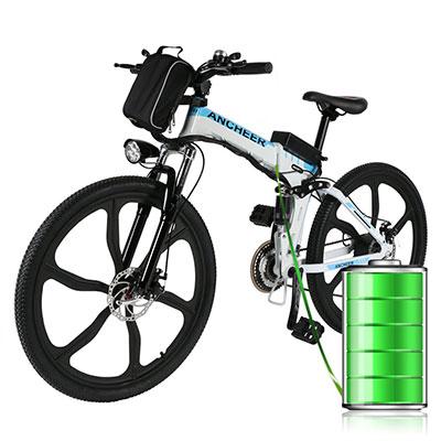 batterie estraibile mountain bike elettrica ancheer 26
