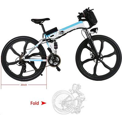 mountain bike elettrica ancheer 26 pieghevole