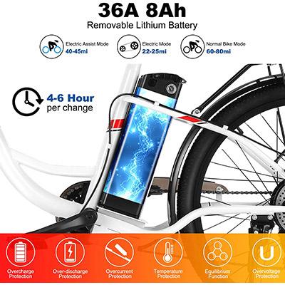 bicicletta elettrica Vivi C26 Winice batteria estraibile