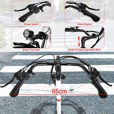 bicicletta elettrica Vivi C26 Winice con manubrio regolabile