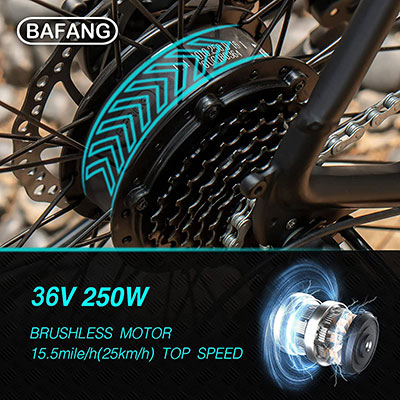 motore ESKUTE Bici Elettrica MTB Elettrica 27,5 Voyager